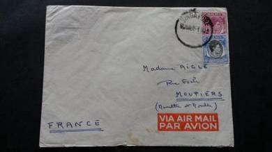 OFFER Antik Cover Malaya FRANCE 1952 No 2116
