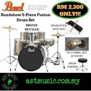 Pearl Roadshow Acoustic Drum Set With Cymbal Pack