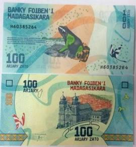 MADAGASCAR 100 ARIARY 2017 P NEW unc