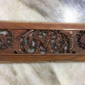 EEQ Antik panel kayu ukiran peranakan F