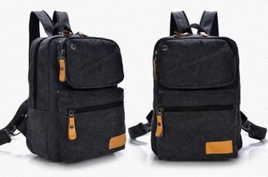 B4242 Black Stylish Dual-Use Chest Bag Backpack