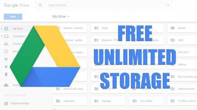 Google team drive unlimted lifetime storage