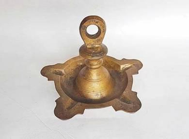 Vintage Old Brass Indian Diya Oil Lamp Burner