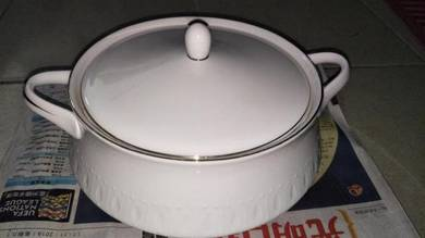 Vintage DUMEX tureen mangkuk berpenutup lama