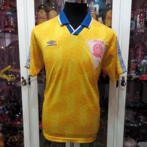 Vintage Malaysia Umbro Yellow Black No 11 Jersey