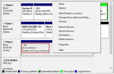 Hard Disk Stuck No File Shown in File Explorer