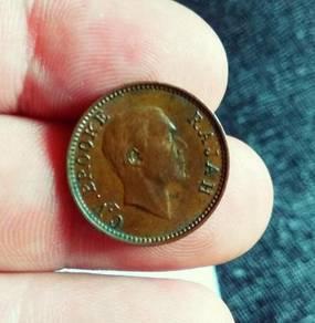 Sarawak Old Coin 1/2 Cent 1933