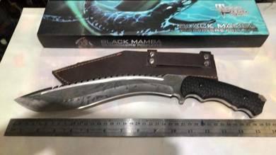 Kukri knive Todd Berger black Mamba machete