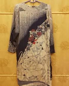 1980'S Modern Abstract Baju Kurung