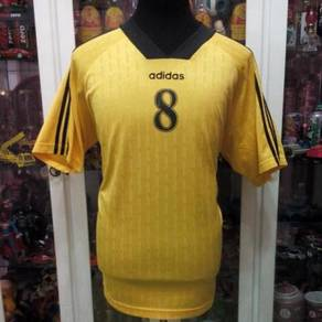 Vintage Malaysia Adidas No 8 Black Yellow Jersey