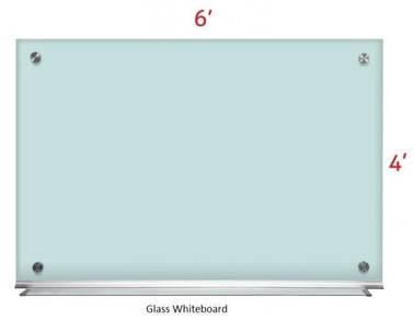 Glass White board 4'x6'~Free Install Whiteboard