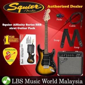 Fender Squier Affinity Series HSS Stratocaster Set