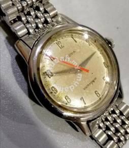 Jam Swiss Boluva index numeric vintage steel watch