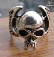 ABRSM-S001 Rock Skull Style Silver Metal Ring S 10