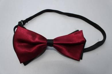 Red Maroon Black Adjustable Men Bowtie Bow Tie