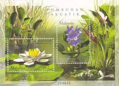 Miniature Sheet Aquatic plant Malaysia 2002