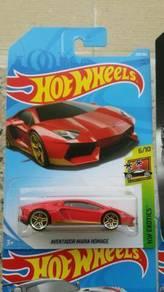HotWheels Lamborghini Aventador Miura Homage Red