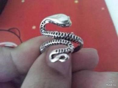 ABRSM-S003 Snake Full Body Silver Metal Ring FS