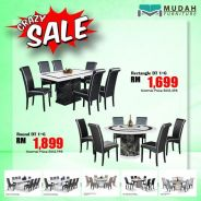 Fully marble dining set 1+6