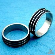 ABRSS-V001 Vogue Men Silver Stainless Ring Size 8