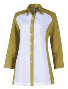 Baju Korporat Uniform F1 Long Sleeve FF6140 Green