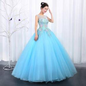 Pink blue prom wedding bridal gown dress RB0452