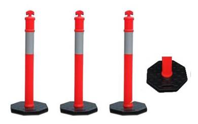 Elastic pole cw heavy base / guiding post