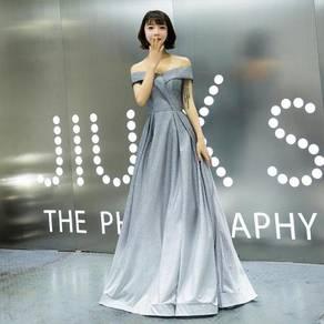 Grey white ombre glitter wedding dress RBP0959
