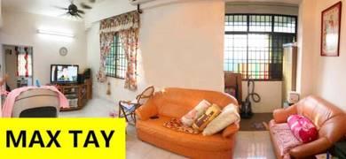 Taman Tampin Apartment 700 sqft 1 CarPark Full Reno Furnished Jelutong