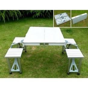 Foldable aluminium picnic table / meja lipat 10