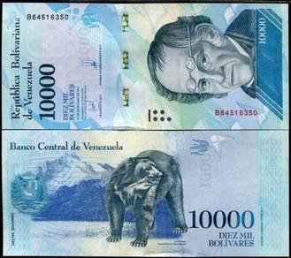 Venezuela 10000 bolivares 2017 / 2018 p new unc