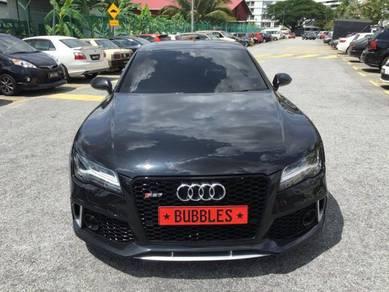 Audi A7 facelift RS style front bumper conversion