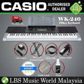 Casio WK-240 76 Key Portable Keyboard