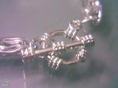 ABBSM-T001 Twist-link Silver Metal Chains Bracelet