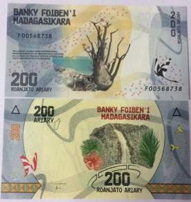 Madagascar 200 ariary 2017 p new unc
