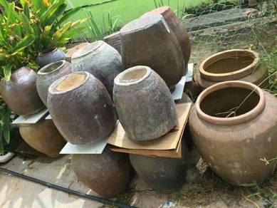 119 Tempayan melayu antik not naga dragon pot