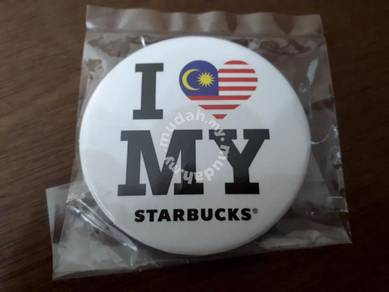 Starbucks Malaysia I Love MY Button Badge