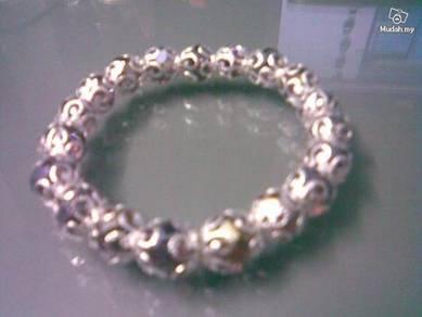 ABBSM-S003 Silver Metal Purple Brown Crystal Brace