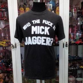 Vtg Who The Fxxx Is Mick Jagger Rolling Stones