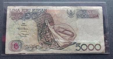Indonesia 5000 Rupiah KVT 1992