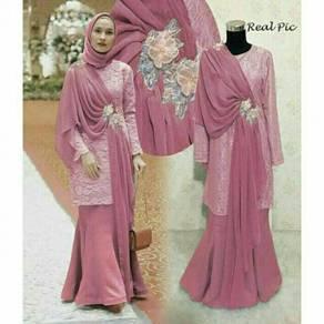 Muslimah long sleeve Kaerin baju kurung dress