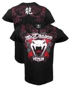 UFC MMA Venum The Dragon Shirt baju (SLim Fit Elas