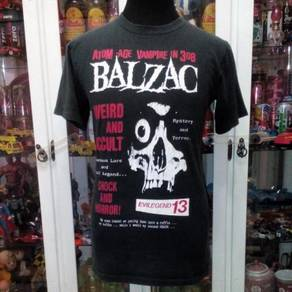 Vtg 90's BALZAC Japanese Horror Punk Band T Shirt