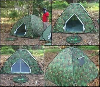 Khemah Campak Camouflage Camo Tent Kelambu Nyamuk