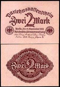 Germany 2 mark 1922 p 62 unc