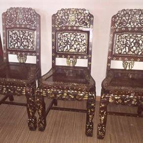 Antique Rosewood Dining Chairs (Set of 6pcs)
