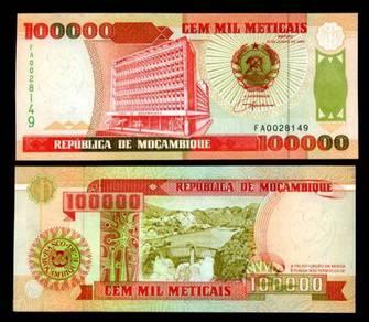 Mozambique 100000 meticais 1993 p 139 unc