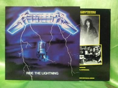 Metallica RIDE THE LIGHTNING 1984 Elektra LP