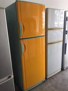 Nationa yellow 2 doors fridge Peti Sejuk Ais