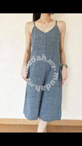 Casual gray jumpsuit